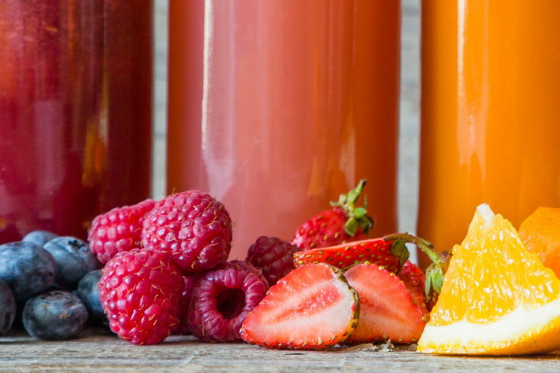 Selection of colourful Smoothies